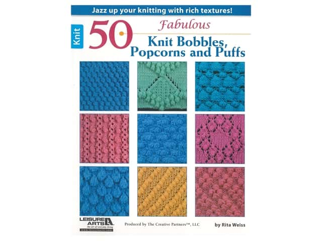 Leisure Arts 50 Fabulous Knit Bobbles, Popcorns and Puffs Book