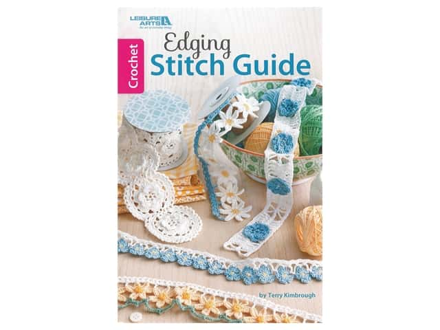 Leisure Arts Crochet Edging Stitch Guide Book