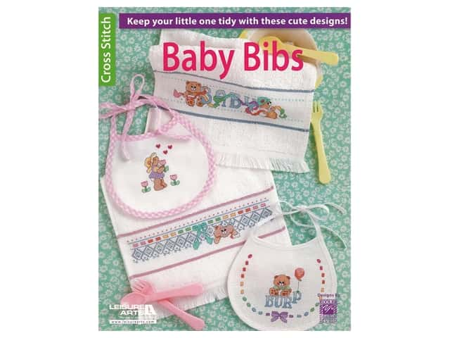 Leisure Arts Baby Bibs Cross Stitch Book