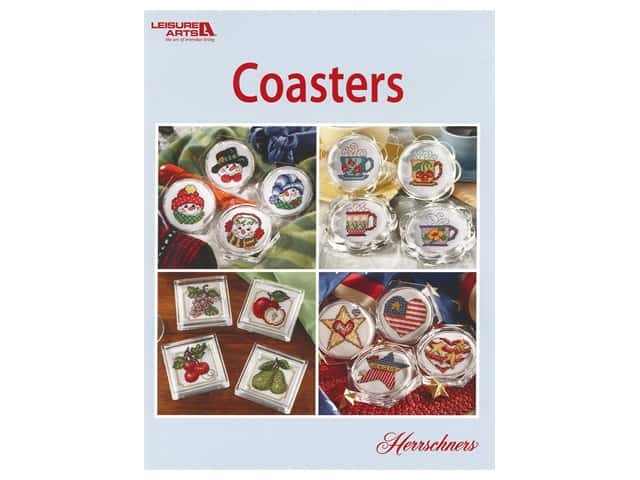 Leisure Arts Cross Stitch Coasters Book