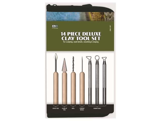 Art Advantage Deluxe Clay Tool Set 14 pc