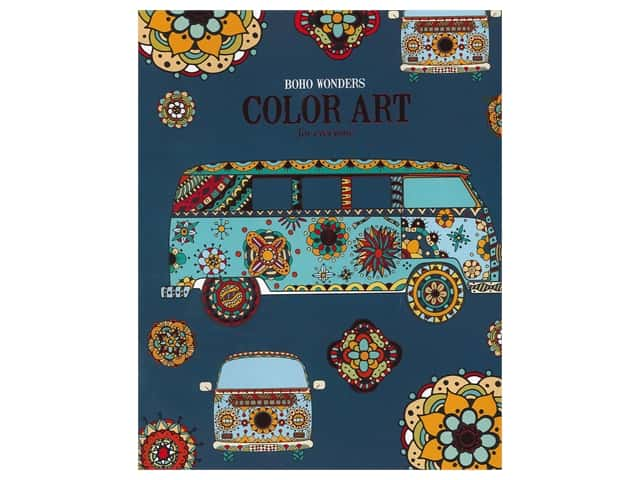 Leisure Arts Boho Wonders Color Art For Everyone Coloring Book