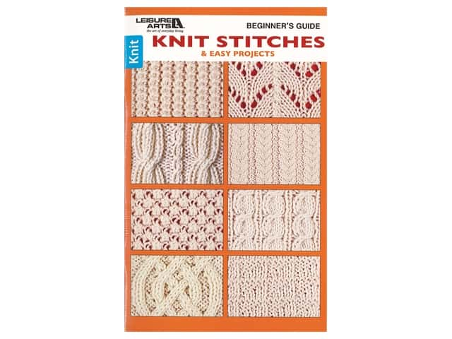 Leisure Arts Beginners Guide To Knit Stitch Book