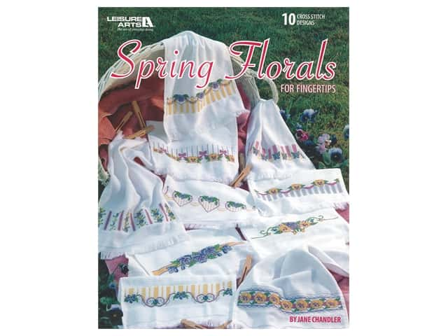 Leisure Arts Spring Florals For Fingertips Book
