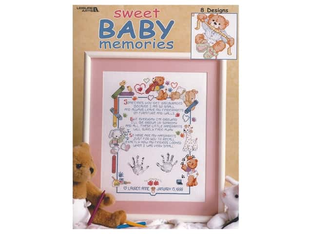 Leisure Arts Sweet Baby Memories Cross Stitch Book