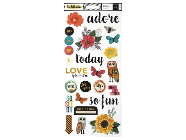 American Crafts Collection Vicki Boutin Wildflower & Honey Sticker 6 in. x 12 in.