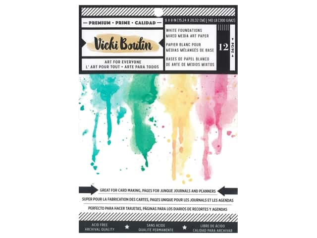 American Crafts Collection Vicki Boutin Wildflower & Honey Paper Pad 6 in. x 8 in. Foundations