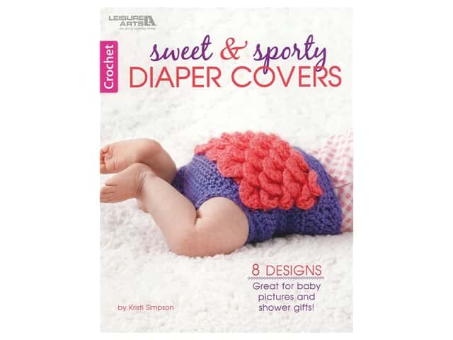 Leisure Arts Sweet & Sporty Diaper Covers Crochet Book
