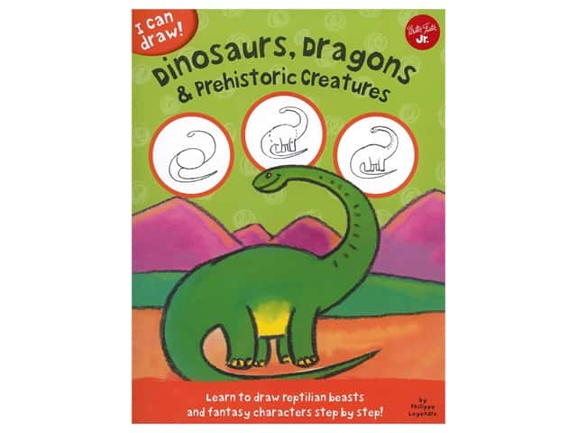 Walter Foster Jr I Can Draw Dinosaurs, Dragons & Prehistoric Creatures Book
