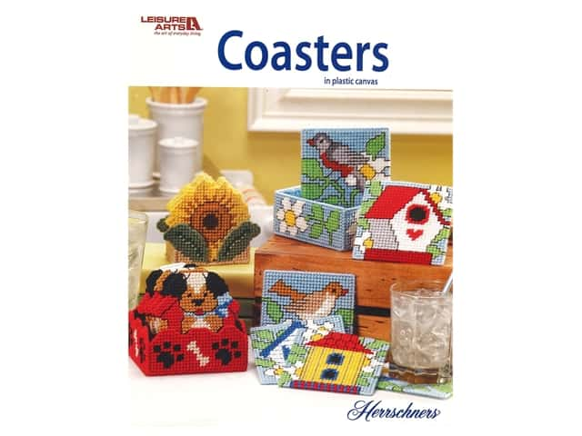 Leisure Arts Coasters In Plastic Canvas Book