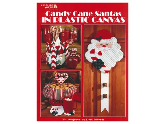 Leisure Arts Candy Cane Santas Plastic Canvas Book