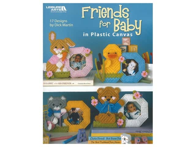 Leisure Arts Friends For Baby In Plastic Canvas Book