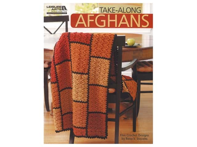 Leisure Arts Take Along Afghans Crochet Book