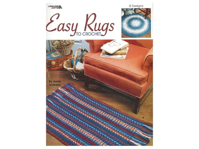 Leisure Arts Easy Rugs To Crochet Book