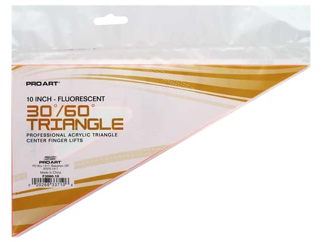 Pro Art Drafting Triangle 10 in. With Finger Lift 30/60 Fluorescent