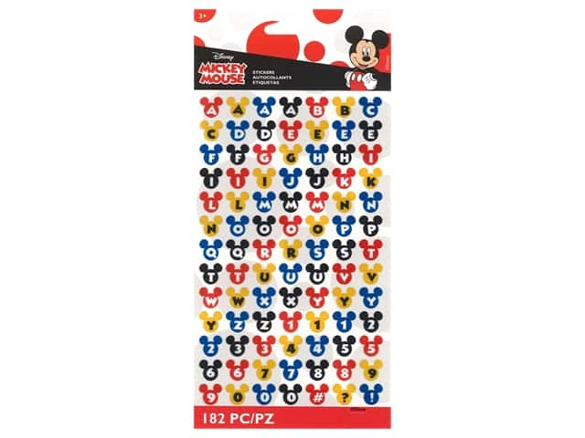 EK Disney Sticker Mickey Ears Alpha