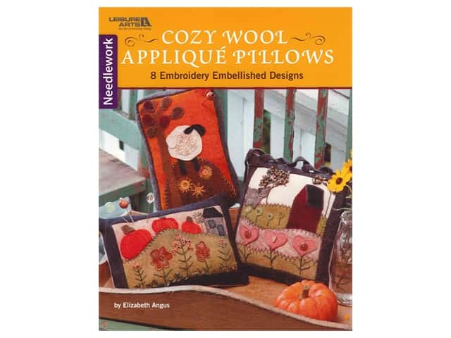 Leisure Arts Cozy Wool Applique Pillows Needlework Book