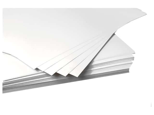 Pro Art Poster Board 22 in. x 28 in. 6 ply White 100 pc