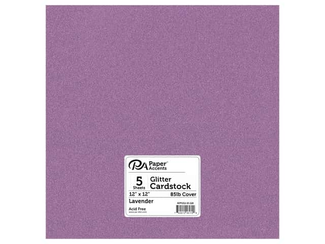 Paper Accents Glitter Cardstock 12 x 12 in. #G29 Lavender 15 pc.