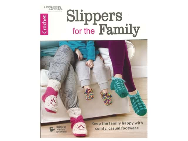 Leisure Arts Crochet Slippers for the Family Book