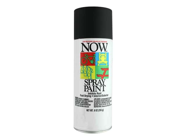 Krylon Now Spray Paint 9 oz. Flat Black