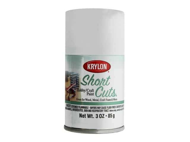 Krylon Shortcuts Aerosol Paints 3 oz. Flat White