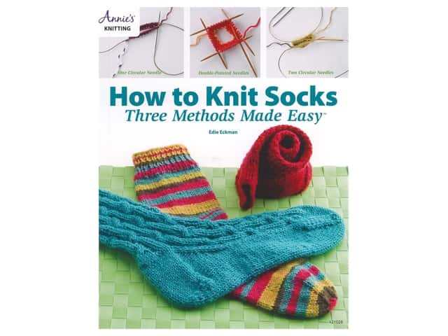 Annie's How to Knit Socks 3 Methods Made Easy Book