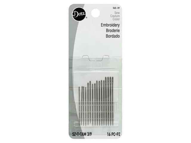 Dritz Embroidery Needles Size 3/9 16 pc.