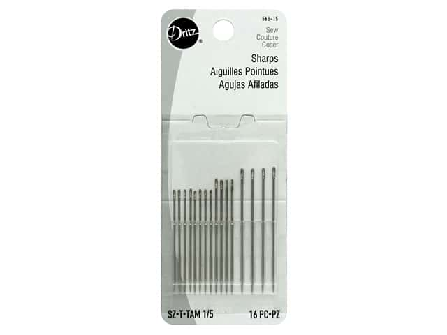 Dritz Sharps Hand Needles Size 1/5 16 pc.