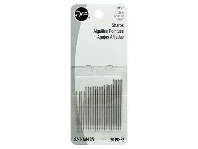 Dritz Sharps Hand Needles Size 3/9 20 pc.