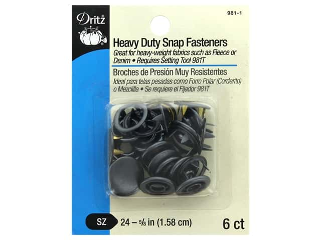 Dritz Snap Heavy Duty Size 24 Black