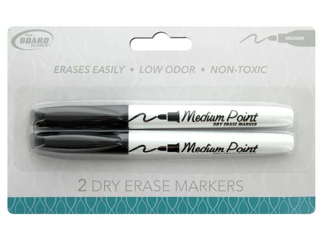 The Board Dudes Dry Erase Marker Medium Point 2 pc. Black