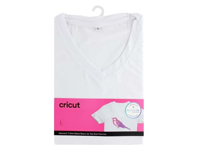 Cricut Infusible Ink Blank T Shirt V Neck Women's Large