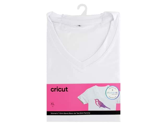 Cricut Infusible Ink Blank T Shirt V Neck Women's XLarge