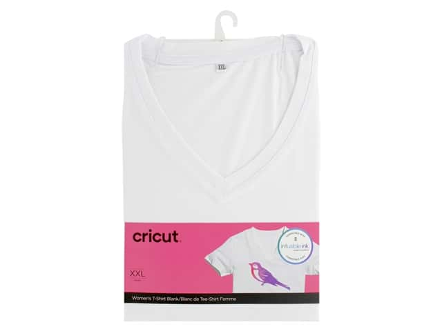 Cricut Infusible Ink Blank T Shirt V Neck Women's XXLarge
