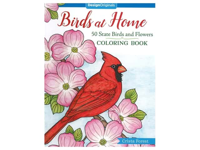 Design Originals Birds At Home Coloring Book