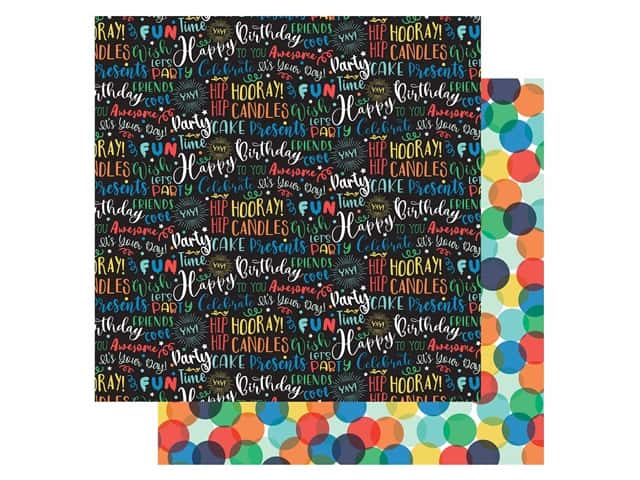 Echo Park Its Your Birthday Boy Collection Paper 12 in. x 12 in. Birthday Boy Words