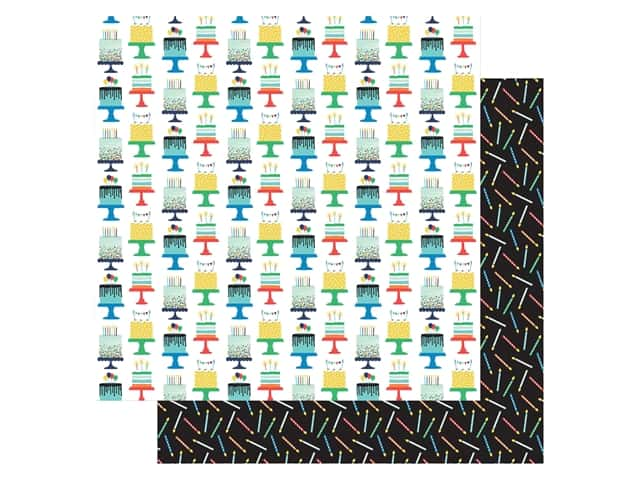 Echo Park Its Your Birthday Boy Collection Paper 12 in. x 12 in. Cakes