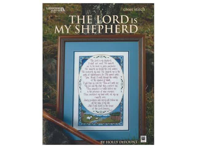 Leisure Arts Cross Stitch The Lord Is My Shepherd Book