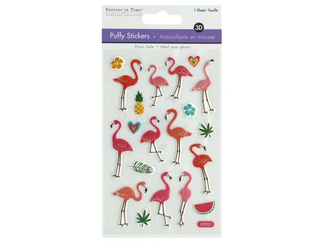 Multicraft Sticker 3D Puffy Flamingo