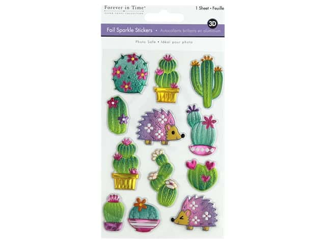 Multicraft Sticker Foil Sparkle Cactus