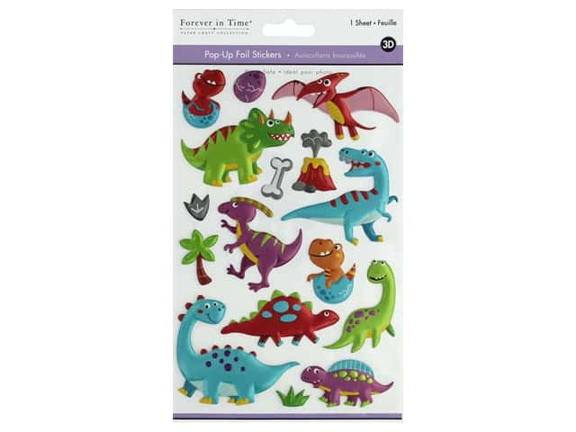 Multicraft Sticker Foil Pop Up Dino