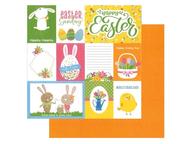 Photo Play Collection Easter Wishes Paper 12 in. x 12 in. Happy Easter
