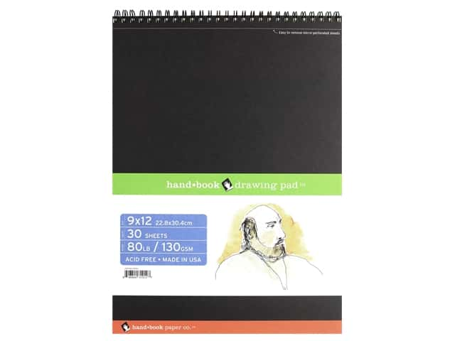 Speedball Hand Book Wire Bound Drawing Pad 9 in. x 12 in.