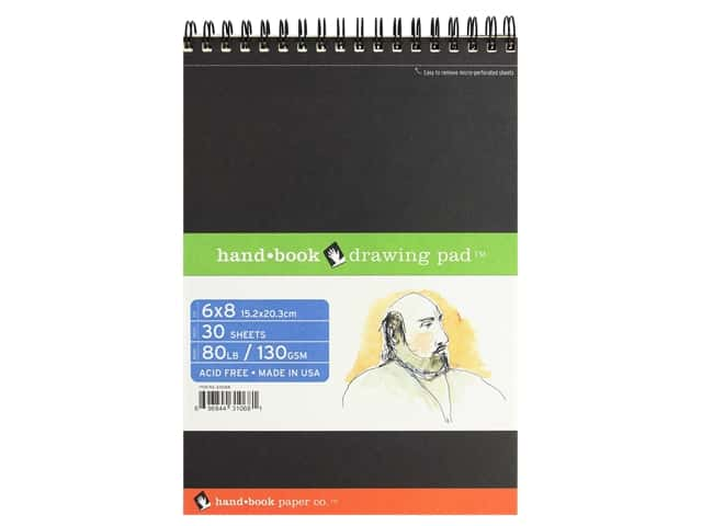 Speedball Hand Book Wire Bound Drawing Pad 6 in. x 8 in.