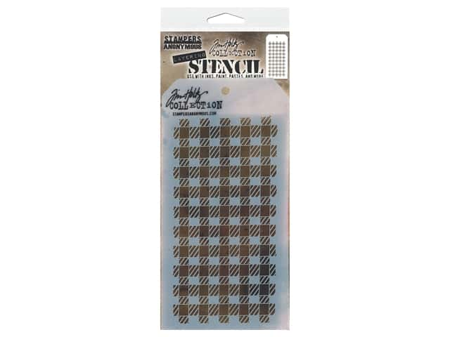 Stampers Anonymous Layering Stencil Tim Holtz Gingham