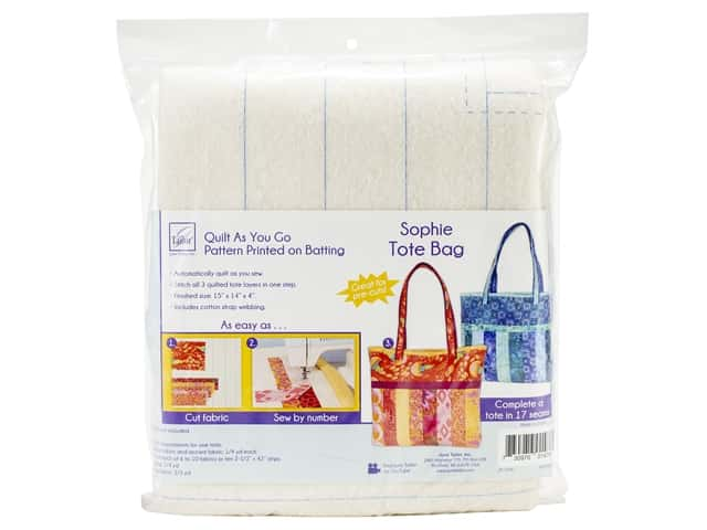June Tailor Batting Quilt As You Go Cotton/Polyester Sophie Tote Bag