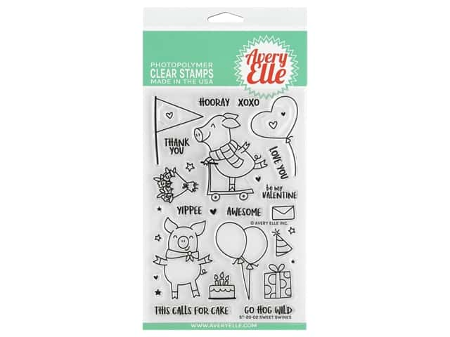Avery Elle Clear Stamp Sweet Swines