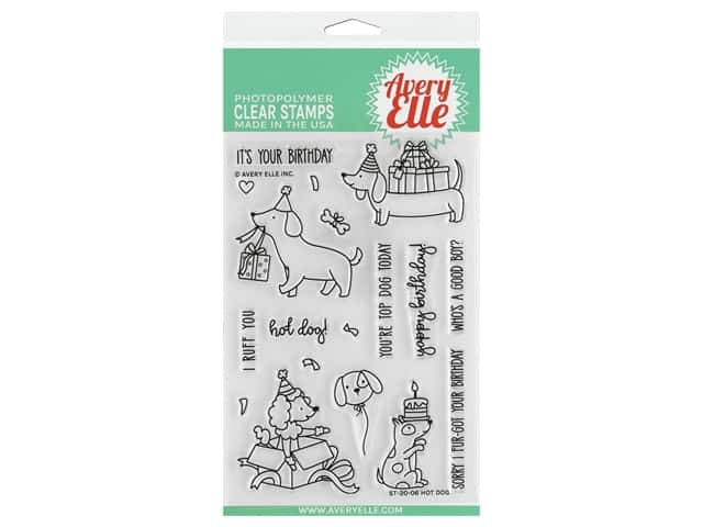 Avery Elle Clear Stamp Hot Dog