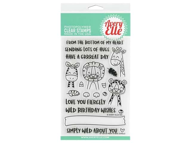 Avery Elle Clear Stamp Peek A Boo Jungle